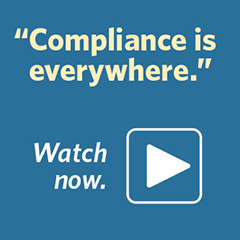 "Fordham Law School video about Compliance master's degree. Watch now: ""Compliance is everywhere."""