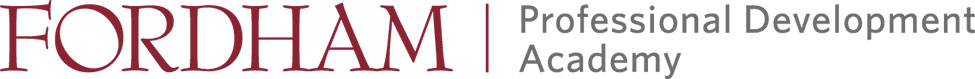 Fordham HR management academy logo