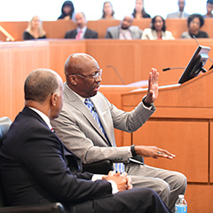 Fordham Law hosted trailblazing federal judges, including Judge Roger Gregory and Judge Gerald Bruce Lee, as part of the 2016 national conference presented by the Just the Beginning Foundation – A Pipeline Organization