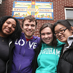 Students perform community service at the Romero Center in Camden
